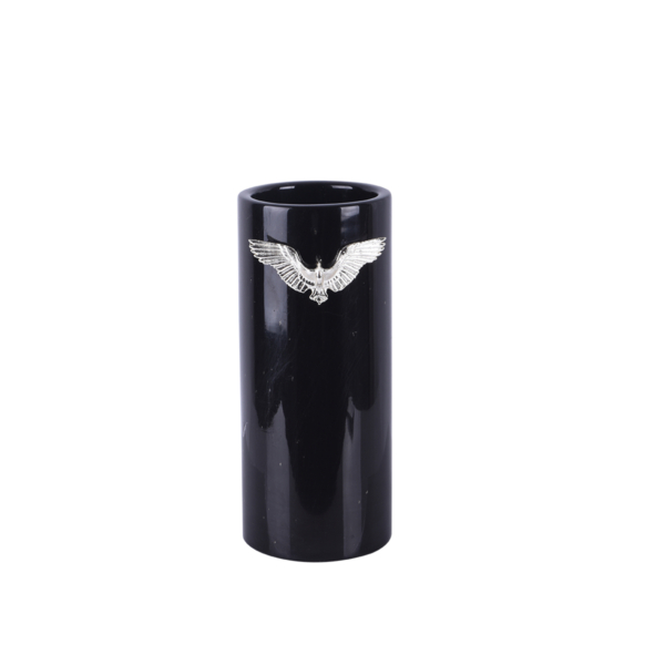 Zumrud-u Anka Siyah Mermer Uzun Vazo