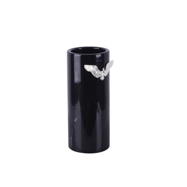 Zumrud-u Anka Siyah Mermer Uzun Vazo Profil